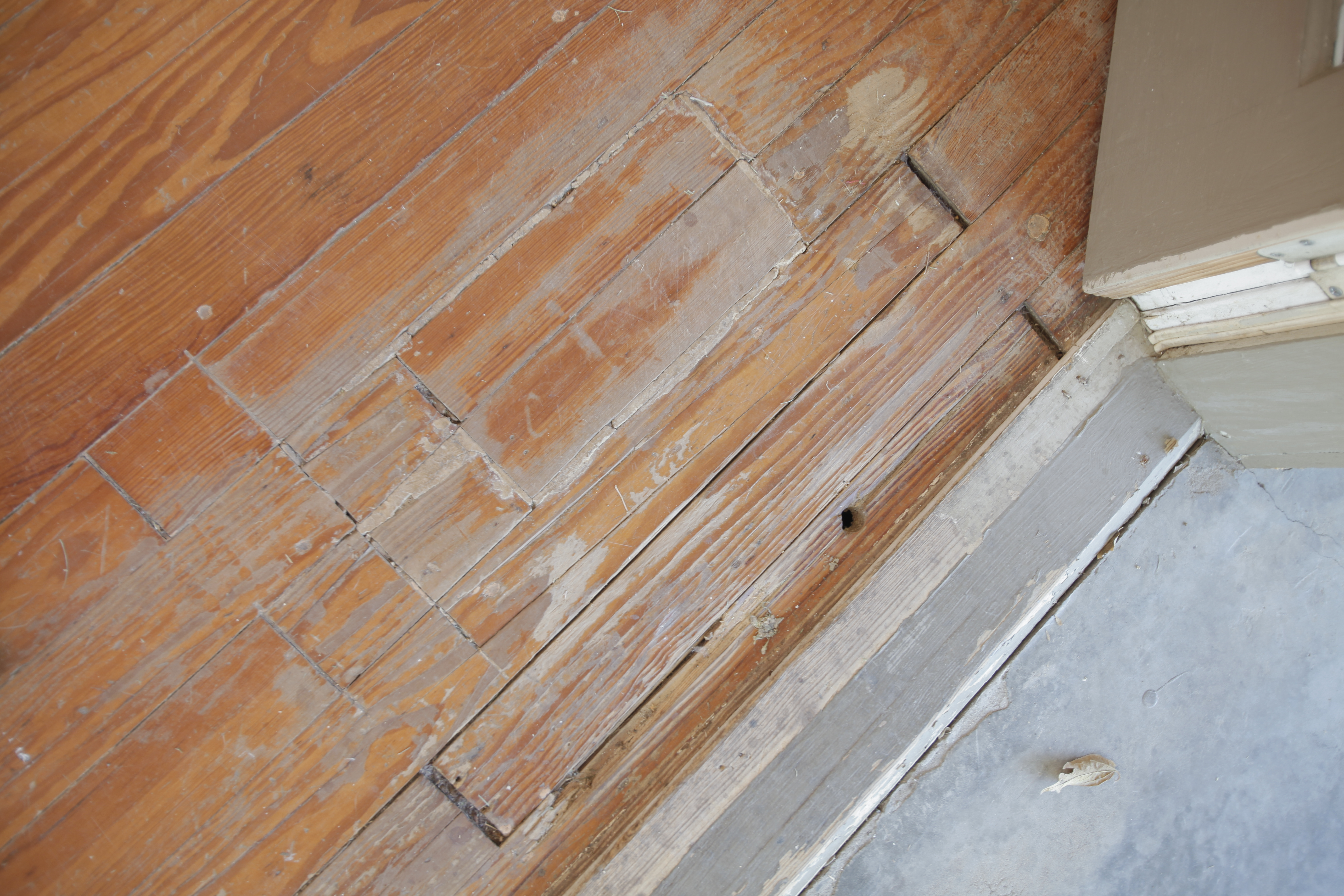 "Our Wood Floors ""Before"" – The Good, The Bad, & The Dangerous Written by The Blissful Bee"